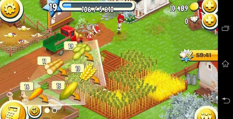 Сажайте медленно-растущие культуры в Hay Day в ночное или рабочее время